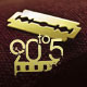 90to5 Awards: Golden razor-blade and 90to5 ;ogo